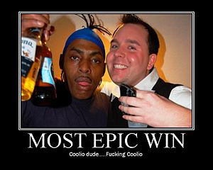 Coolio and Buffalo, NY party promoter Chris Ring