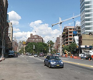 Cooper Square - Cooper Square looking uptown in 2008