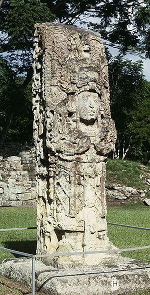 Maya stelae - Image: Copan St H