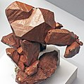 Copper crystals (Mesoproterozoic, 1.05-1.06 Ga; Central Mine, Keweenaw County, Upper Peninsula of Michigan, USA) 1 (17301460012).jpg