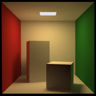Cornell box - Standard Cornell box rendered with POV-Ray