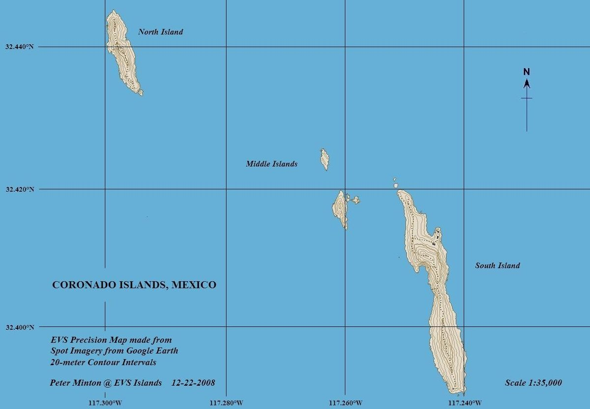 Islands Off San Diego Map