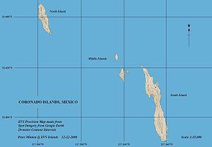Coronado Islands - Image: Coronado Islands Map