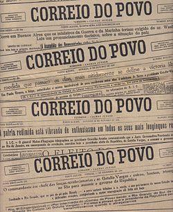 18cb8edb20 Correio do Povo  sucessão de manchetes sobre a Revolução de 1930.