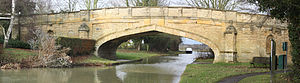 Cosgrove, Northamptonshire - Ornamental bridge built ca. 1790 over the Grand Union Canal at Cosgrove
