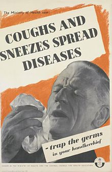 Sneeze is covered by handkerchief or forearm