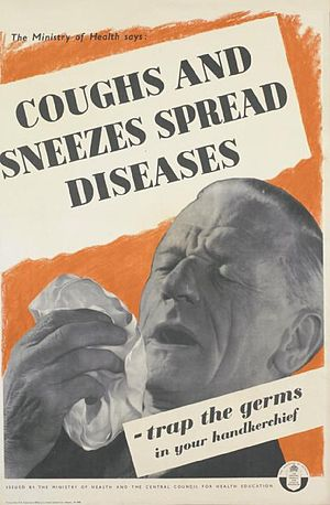 Sneeze - Sneeze is covered by handkerchief or forearm