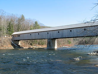 Dummerston, Vermont - Built in 1872, the West Dummerston Covered Bridge has a floor length of 267 feet (81 m)