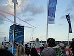 Cowes Week 2011 Red Arrows display 50.JPG