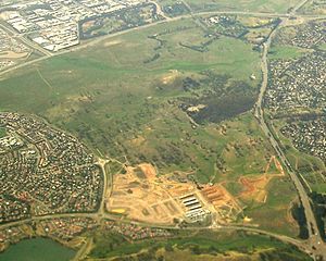 Crace, Australian Capital Territory - End 2009 aerial view of Crace from the west