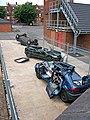 Crashed cars at Stourbridge Community Fire Station - geograph.org.uk - 1376908.jpg
