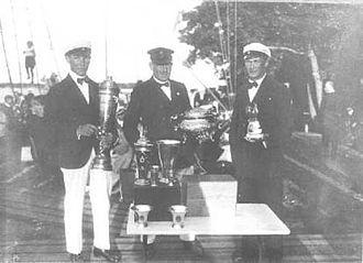Gösta Bengtsson - Gösta Bengtsson with the other crew members of 30m² Skerry cruiser Kullan