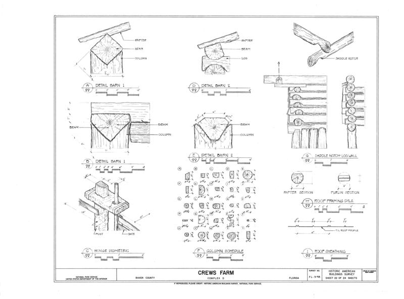 File:Crews Farm, Macclenny, Baker County, FL HABS FL-398 (sheet 22 of 24).png