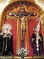 Cristo Crucificado, Virgen de los Dolores y San Juan Evangelista. Iglesia de San Miguel Arcángel.JPG