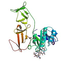 Crystal structure of the modular CPL-1 endolysin complexed with a peptidoglycan analogue.jpg
