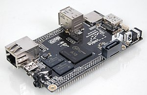 Allwinner A1X - One of the many single-board computers based on the Allwinner A10 SoC.