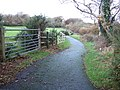 Cycle route near Johnston - geograph.org.uk - 280669.jpg