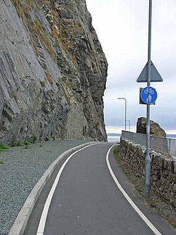 Cycle track round Penmaenbach Point - geograph.org.uk - 226802