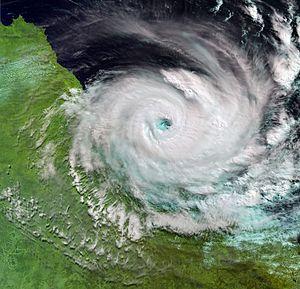 Sentinel-3 - Image: Cyclone Debbie ESA375411