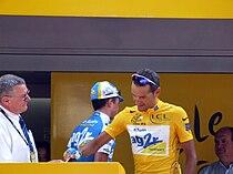 Cyril Dessel en maillot jaune (Tour de France 2006).jpg