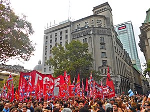 Communist Party of Argentina (Extraordinary Congress) - PCCE participating in the Day of Remembrance for Truth and Justice.