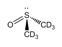Wireframe of deuterated DMSO