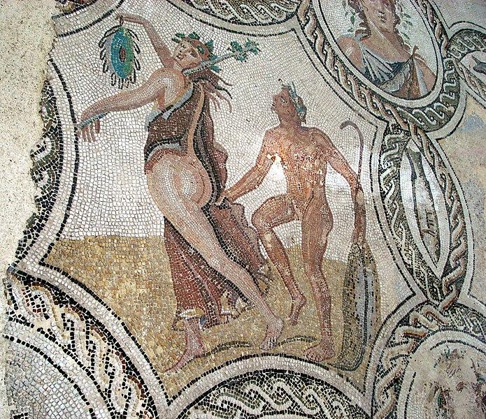 CONSULTORIO ROMÁNICO - Página 19 695px-DSC00361_-_Mosaico_delle_stagioni_%28epoca_romana%29_-_Foto_G._Dall%27Orto