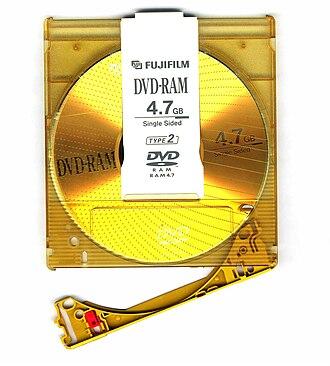 DVD-RAM - A DVD-RAM Type 2