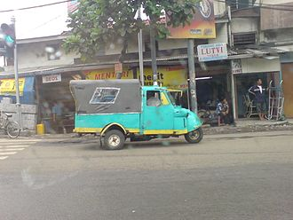 Share taxi - A three-wheeler Bemo in Jakarta. It also serves as a share taxi like Angkots