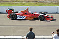 Dallara-Chevrolet DW12 KV-Citgo Racing EJ Viso Morning Practice Leaving Pit Row 01 SPGP 24March2012 (14719573443).jpg