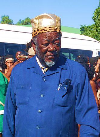 Damara people - His Royal Highness King of the Damara Nation Gaob Justus ǀUruhe ǁGaroëb