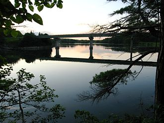 Lincoln County, Maine - The Damariscotta River near the Whaleback Shell Midden State Historic Site