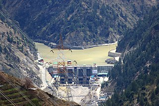 Karcham Wangtoo Hydroelectric Plant dam in India