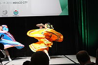 Dancing at the Wikimania 2015 Opening Ceremony IMG 7620.JPG