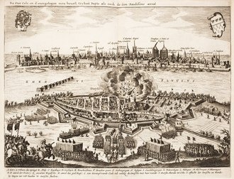 Attack on Deutz by the Swedish army during the Thirty Years' War in 1632 Dankaerts-Historis-9364.tif