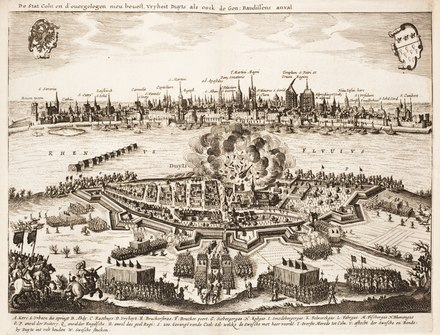 Attack on Deutz by the Swedish army during the Thirty Years' War in 1632
