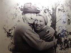 Danny Kaye with Lotte Eisenberg, manager of Galei Kinneret