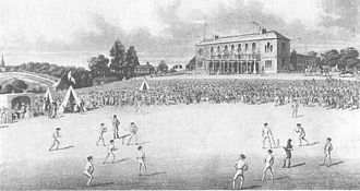 Sheffield Wednesday F.C. - A cricket match at Darnall in the 1820s, a ground laid out for The Wednesday Cricket Club.