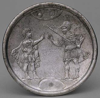 David Plates - David's Confrontation with Eliab, a small plate