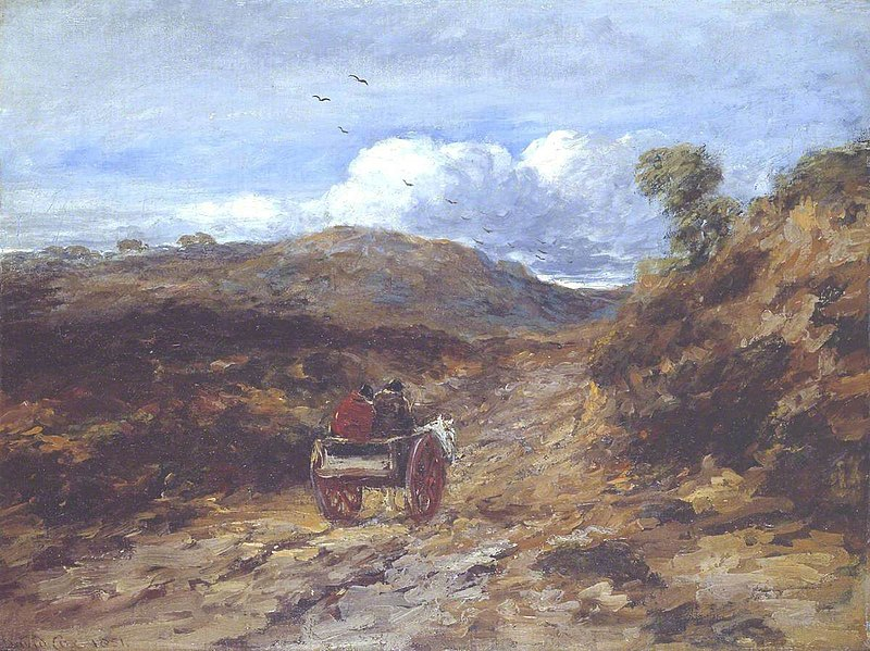 File:David Cox the elder (1783-1859) - Moorland Road - N02665 - National Gallery.jpg