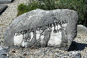 George de Mestral - The grave in Commugny
