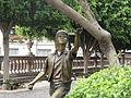 De pinta, escultura del Jardín de San Marcos.JPG