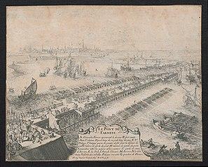 De schipbrug van Parma over de Schelde