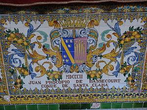 Juan Procopio Bassecourt y Bryas - Coat of arms of Juan Procopio de Bassecourt (decorated tiles at the Capitania General de Barcelona)