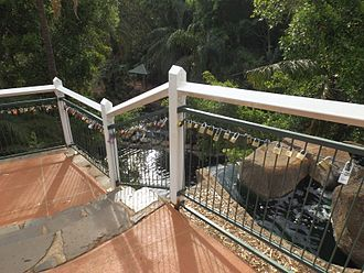 Picnic Point, Toowoomba - Love locks at the top of a man-made waterfall, 2014