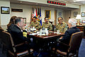 Defense.gov News Photo 101020-D-9880W-029 - Secretary of Defense Robert M. Gates right hosts a meeting in the Pentagon with Chief of the Pakistani Army Staff Gen. Ashfaq Kayani 2nd from right.jpg