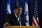 Defense.gov News Photo 111003-F-RG147-645 - Secretary of Defense Leon Panetta answers a reporter s question during a joint press conference with Israeli Minister of Defense Ehud Barak after.jpg