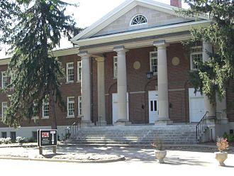 Defense Acquisition University - DAU's Headquarters Building on the base of Fort Belvoir near Washington, DC