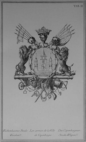 Den Danske Vitruvius - The coat of arms of Copenhagen
