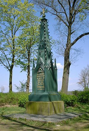 Battle of Dennewitz - Memorial of the battle, built by Schinkel